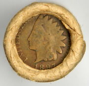 Indian Head Ends Vintage Old Lincoln Wheat Cent Roll Estate