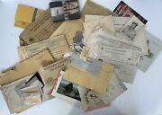 Huge Wwii War Dept Map Correspondence Telegram Tags Id Photo/paperwork Lot