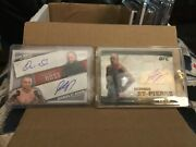 George St Pierre Auto Cards Lot2 Both Topps Ufc Autos Included