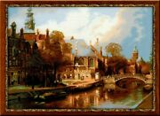 New Riolis 1189 Amsterdam The Old Church Counted Cross Stitch Kit White Aida