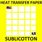 Sublicotton Heat Transfer Paper 250 Sh 11andrdquox17andrdquo Sublimation Paper For Cotton Top