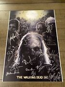 Amc's The Walking Dead Cast Signed Poster - Early 2012-2014 Norman Reedus Riggs
