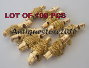Lot Of 100 Pcs Vintage Nautical Solid Brass Necklace Whistle Key Chain Best Gift
