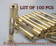 Lot Of 100 Pcs Vintage Beautiful Antique Nautical Marine Solid Brass Key Chain