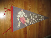50s New York Giants Football 30 Pennant With Tassels