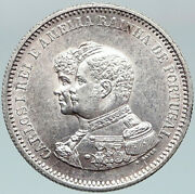 1898 Portugal Cross Discovery Of India 400yr Genuine Silver 200 Reis Coin I88325