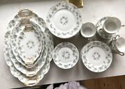 Rare 47 Piece Set Of Haviland China From Limoges France W Serving Trays