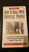 How To Deal With Difficult People - Vol 2 By Dr. Rick Brinkman, R Kirschner Vhs