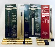 Nos Carded Vintage Cross Pen And Mechanical Pencil Refills Erasers