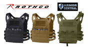 New Rothco Tactical Lightweight Molle Plate Carrier Vest - All Colors - 5589