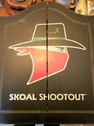 Vintage Skoal Shootout Snuff Tobacco Wooden Hanging Dart Board And Cabinet