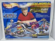 New Hot Wheels Deluxe World Police And Gas Station Mcdonalds Track 6 Cars Rare