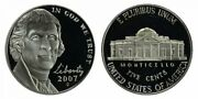 2007 P And D Bu And Proof Jefferson Nickels From Us Mint Sets 3 Coins Cp10498
