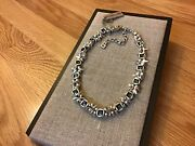 """Nwt Uno De 50 Silver-plated Choker Necklace W/ Blue Crystal """"jejewel"""""""