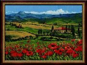 New Riolis 100/001 Tuscany Counted Cross Stitch Kit White Aida 21 Colors Gift