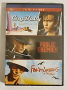 Triple Feature Dvd Cry-baby / Public Enemies / Fear And Loathing In Las Vegas