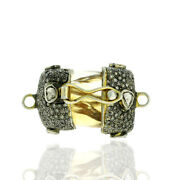 Citrine And Diamond 925 Sterling Silver Connector Finding Jewelry Making Accessory