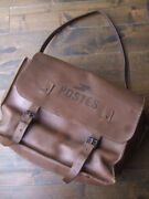 Vintage 1960and039s 1970and039s La Poste France Mail Bag Brown Leather
