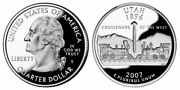 2007 P D Proof And Silver Proof Utah Quarters From Us Mint Sets 4 Coins Cp10520