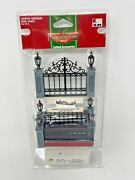 New Lemax Coventry Cove Lighted Accessories Lighted Wrought Iron Fence 2005