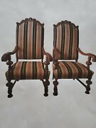 Pair Of Antique Throne Chairs From The Granada Theater-detroit Michigan