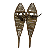 Antique Pair Of Tubbs Snowshoes - 37 X 10andrdquo Snowshoes - Very Good Condition