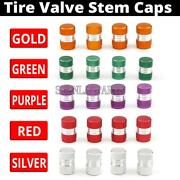 4x Wheel Rims Tyre Tire Valve Stems Air Dust Cover Caps For Car Truck Motorcycle