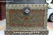 China Wood Lacquerware Dragon Loong Play Ball Jewelry Chest Bin Case Box Boxes