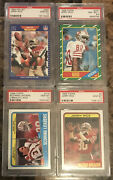 Jerry Rice Psa 10 Lot X3💎💎💎 And 1986 Topps Rookie Psa 8.5🔥🔥🔥