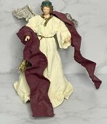 """Vintage Midwest Paper Mache Angel Tree Topper 8"""" Christmas"""