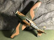 Rare Marx | Vtg 9 Military Airplane With Bomb Rack | Tin Toy | Good Condition