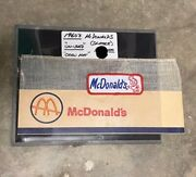 1960's Mcdonalds Uniform Hat And Patch In Excellent Condition