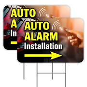 Auto Alarm 18x24 Inch Sign With Display Options