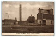Postcard Elevator And Water Works Continental Ohio Oh 1911 Water Tower Silo
