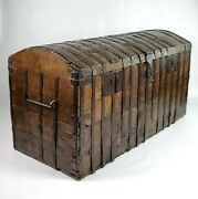A Large Early 17th Century Iron Bound Chest.