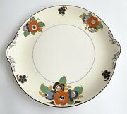 Pope Gosser Ivory White D-28 Floral Round Serving Platter Plate Made In Usa