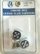 Chrome Dice License Plate Fasteners For Vintage Autos