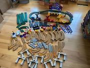 Huge Geotrax Train Set/lot - 125 Pieces - Tracks Engines 3 Controllers Signs +++