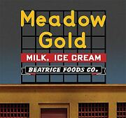 Micro Structures O N Ho Scale Billboard Large Meadow Gold   Bn   881951