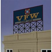 Micro Structures O N Ho Scale Billboard Large Vfw   Bn   881251
