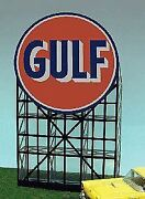 Micro Structures O N Ho Scale Animated Billboard Gulf Gas Large   Bn   6081