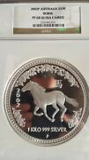 Mintage=71 Kilo Kg 2002 Perth Lunar Horse Silver Coin Proof Ngc Pf68 Ucam