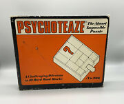 Vintage 1969 Psychoteaze The Almost Impossible Puzzle No. 206 Wood Blocks Game