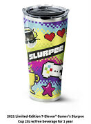Preorder 2021 Limited Ed 7-11 Gamers Slurpee Cup 20z W/free Beverage For 1 Year