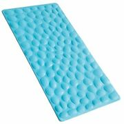 Durable Nonslip Bathtub Mat Soft Rubber Bathmat With Strong Suction Cups Blue