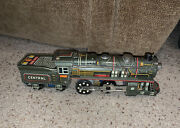 Rare T.n. Tn 1956 Central Friction Tin Train Working Litho Railroad Toy