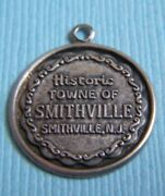 Vintage Historic Towne Of Smithville New Jersey Sterling Charm