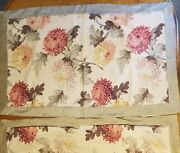 Pair Of Bella Notte Linen King Pillow Shams Floral Peonies Camille Read