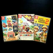 Nintendo Switch Mario 3d All-stars Mario Maker 2 And Paper Mario The Origami King