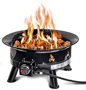 Outland Firebowl 883 Mega Outdoor Propane Gas Fire Pit With Uv And Weather Resi